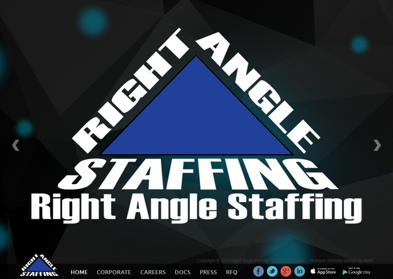 Right Angle Staffing website design by Advanced Media Solutions